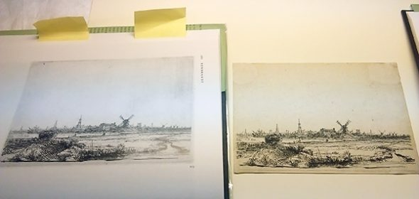 The New Hollstein in action: checking Rembrandt's View of Amsterdam from the Kadijk.