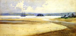 John William Tristram, Double Bay, 1893. Watercolour. Private collection.