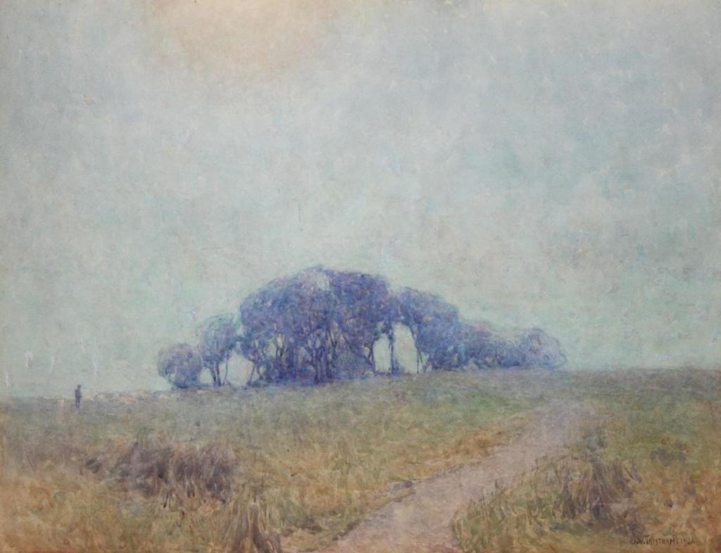 John William Tristram, Tremulous Dusk, 1904. Watercolour. Gift of the New Zealand Academy of Fine Arts, 1936. Te Papa (1936-0012-6).