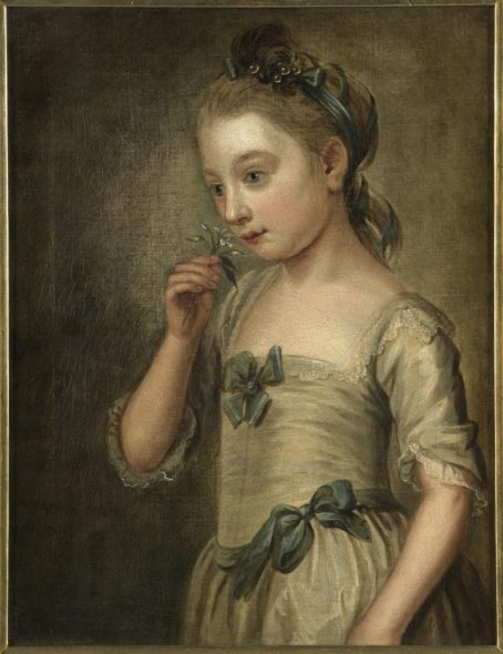 Smell, circa 1750, unknown artist (school of Philippe Mercier). Oil on canvas. Bequest of Mrs E.G. Elgar, 1945. Te Papa (1992-0035-1795).