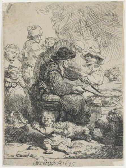 2 Rembrandt 'Pancake woman'