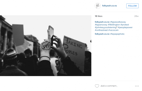 Tppawalkaway. Photograph and Instagram post by folkyeah.co.nz. All rights reserved