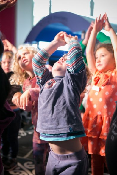 Kids get creative with dance at Te Papa. Photograph by Kate Whitley. Te Papa
