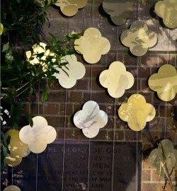 Detail showing quatrefoils in Max Gimblett's 'Art of Remembrance'. St David's Church, Auckland, 2015 from Art of Remembrance website