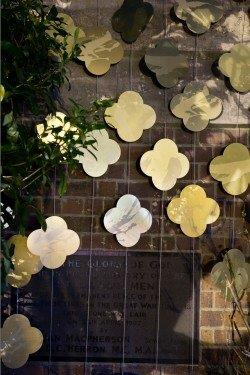 Detail showing quatrefoils in Max Gimblett's 'Remembrance'. St David's Church, Auckland, 2015 from Art of Remembrance website