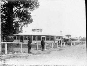 Hospital at the Featherston Military Camp. Photograph taken by Frederick George Radcliffe between circa 1914-1918. National Library, New Zealand 1-2-005955-G,