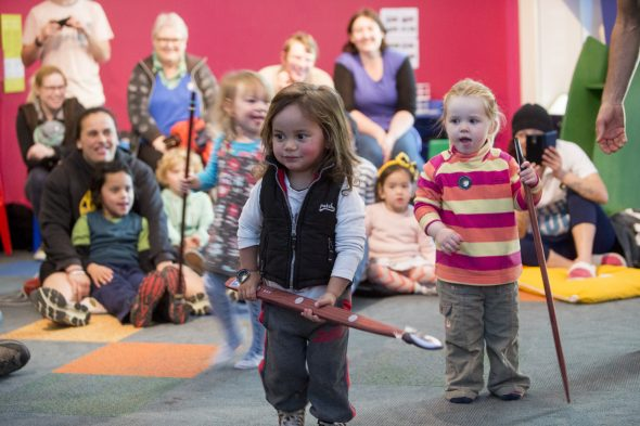 Retelling legends during Ngāti Toa Weekend, 2015. Photography by Norm Heke. Te Papa