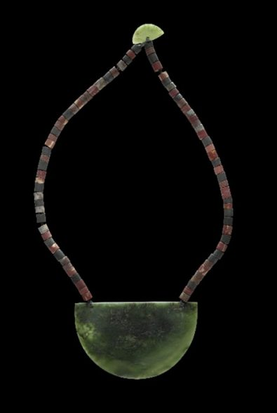 Breastplate made of jade, jasper, argillite