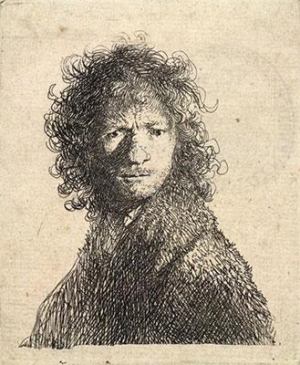 Rembrandt van Rijn, frowning, ink, paper