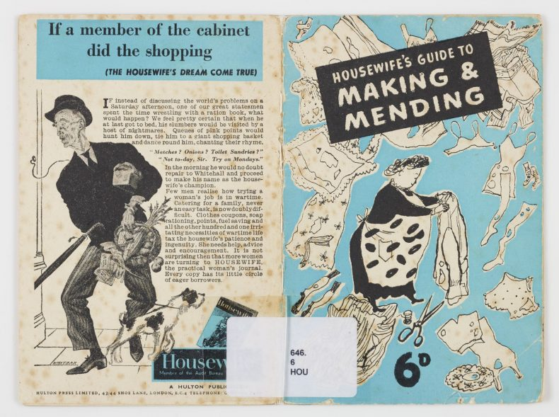 Housewife's guide to making and mending, 1940, London, by Hulton Press. Te Papa (RB001288)