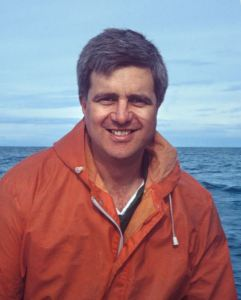 Clive Roberts during a Chatham Islands fish survey, c.1994. Image: Te Papa