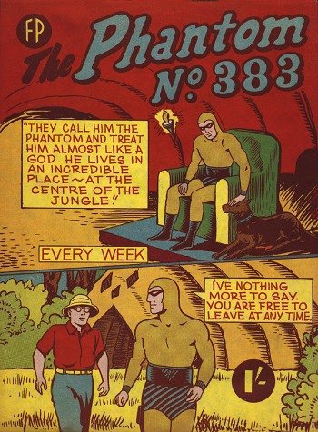 Phantom Comic Book Cover #383. Feature Publications. The Phantom Reference Guide. http://www.deepwoods.org/nz_chron.html