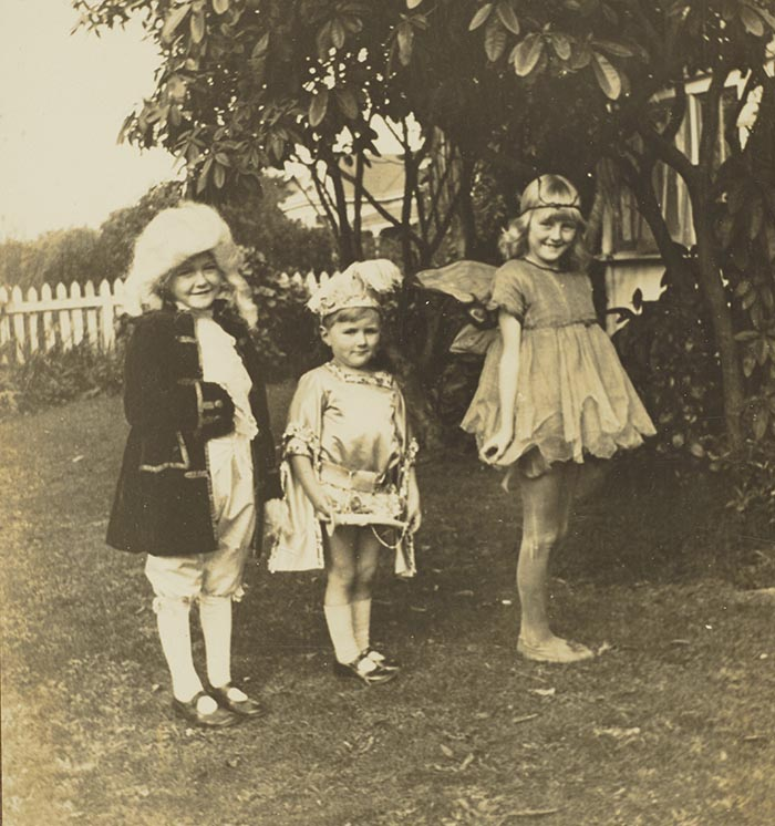 Three children in fancy dress