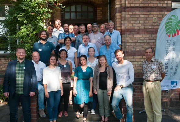 Group photo at the International Boraginales Conference, just outside the Nees Institute, University of Bonn, Germany, where it was held. Sept 2016.