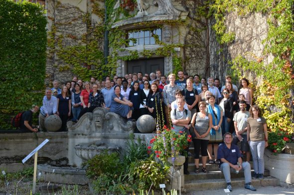 Group photo of those who attended the conference in Munich, just outside the conference venue in the Munich Botanic Garden. Sept 2016. Photo by Jens Rohwer.