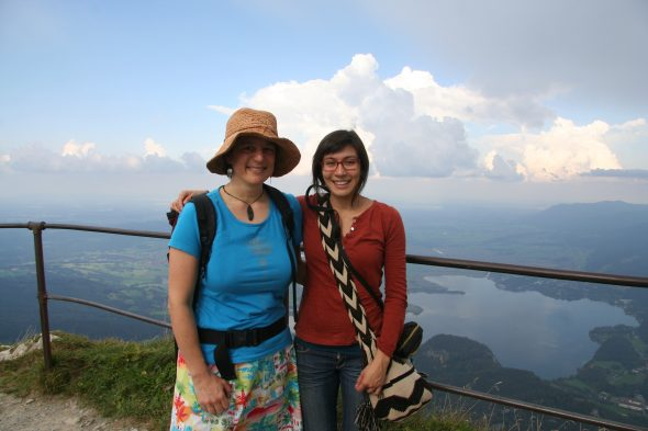 Me and colleague Dr Blanca Rojas Andrés on top of Herzogstand in the German Alps.