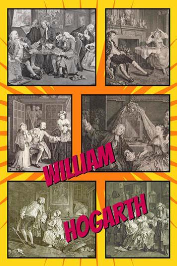 Hogarth as a comic, by Isaac du