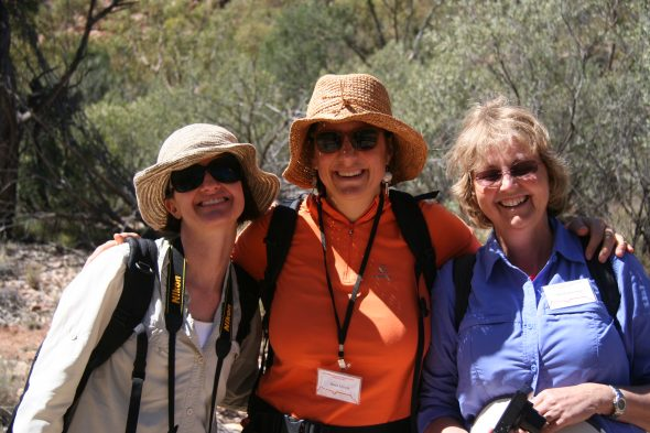 Here we are, the New Zealand representatives at the 2016 ASBS conference in Alice Springs! Drs Jennifer Tate (Massey University), Heidi Meudt (Te Papa) and Ilse Breitwieser (Landcare Research). Sept 2016.