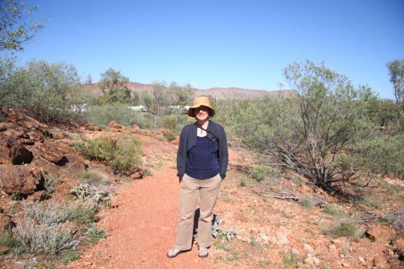 Me at the Olive Pink Botanic Garden in Alice Springs, Australia! This garden showcases the native central Australian flora. Sept 2016. Photo by Ilse Breitwieser.