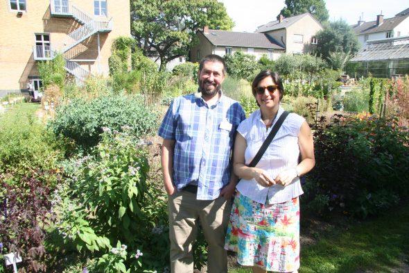 Me with Dr Federico Luebert at the Bonn Botanic Garden, Bonn, Germany. Sept 2016.