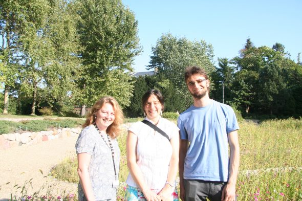 Me with Dr Nina Rønsted and Gustavo Hassemer at the Copenhagen Botanic Gardens. Sept 2016.