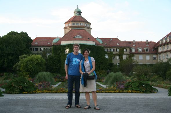 At the Munich Botanic Garden with fellow botanist Simon Pfanzelt. Sept 2016.