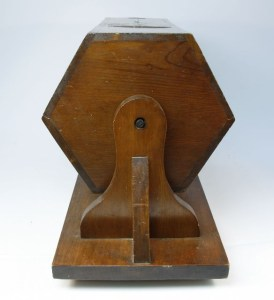 End view of box used in conscription ballots from 1916-1918