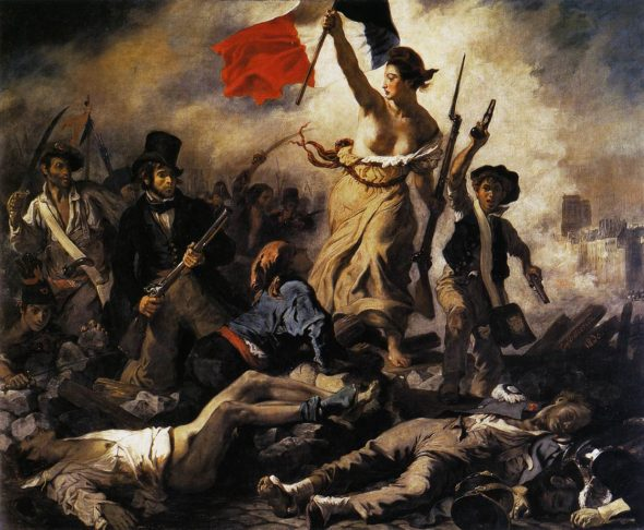 Liberty Leading the People, 1830, by Eugène Delacroix. Louvre, Paris. (Wikimedia Commons)