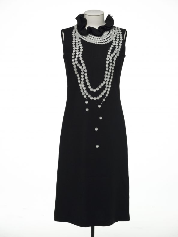 Karen Walker's iconic Pearl dress will be on display at Expressions in From Catwalk to Cover. Te Papa.