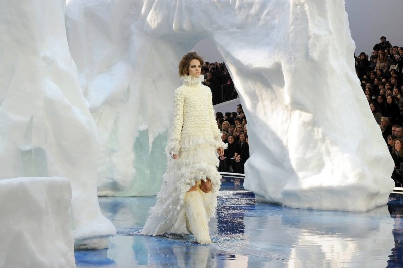 Freja Beha Erichsen modelling for Chanel, Autumn Winter 2010. Photo: Kirsten Sinclair. From Catwalk to Cover.