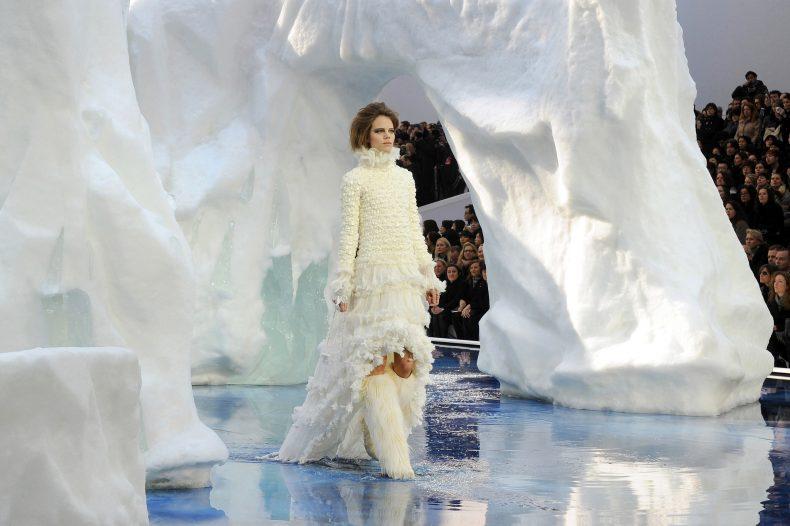 Freja Beha Erichsen modelling for Chanel, Autumn Winter 2010. Photo: Kirsten Sinclair. From Catwalk to Cover.