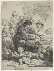 The pancake woman, 1635, by Rembrandt van Rijn Gift of Bishop Monrad, 1869. Te Papa (1869-0001-415)