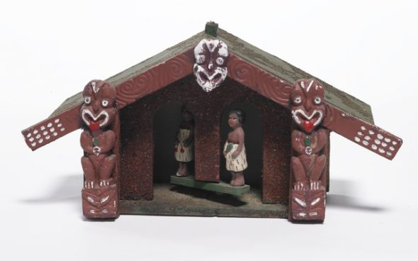 Weather house, circa 1939-1940, New Zealand, by Andrew Moran. Purchased 1996 with New Zealand Lottery Grants Board funds. Te Papa (GH004884)