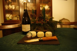 Crottins de Chavignol (a renowned locally-produced goat-cheese) goes perfectly with the Sauvignon Blanc produced within a few kilometers of each other. Photo: Susan Waugh; Copyright, Susan Waugh.