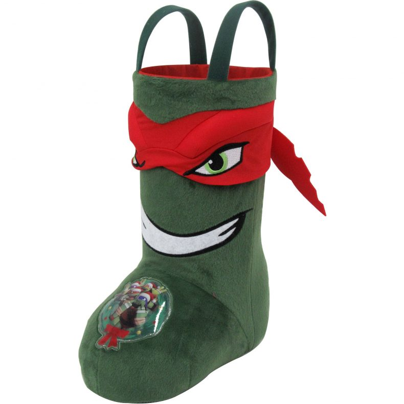 "Raphael Teenage Mutant Ninja Turtles 13"" standard Christmas stocking. (Wallmart)"