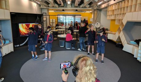 Students in the Learning Lab at Te Papa