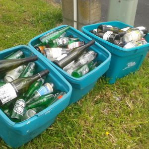 Christmas and New Year empties, 4 January 2017. Photo by Kirstie Ross