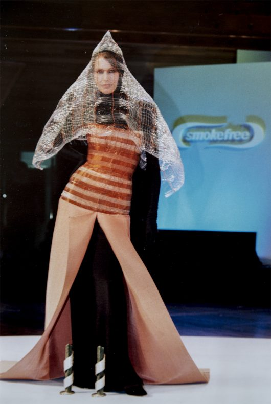 Dual Outlook at the 1997 Benson and Hedges Smokefree Fashion Awards. Photograph by Lance Lawsonand courtesy of Deborah Crowe