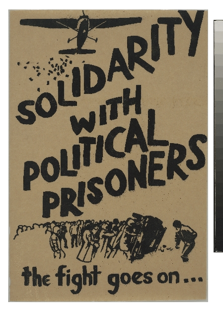 Poster, 'Solidarity With Political Prisoners'