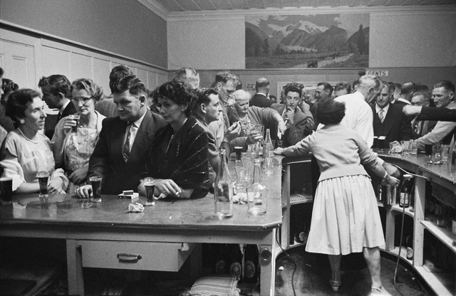 [Crowded pub], 1960, New Zealand, by Brian Brake. Gift of Mr Raymond Wai-Man Lau, 2001. Te Papa (E.005436/04)