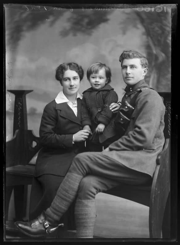 Portrait of Ida, George and Walter George Scambary, circa 1917, Wellington, by William Berry. Purchased 1998 with New Zealand Lottery Grants Board funds. Te Papa (B.046399)