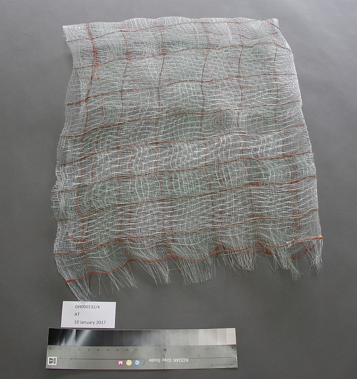 Visor after treatment. Dual Outlook, 1997, Auckland, by Kim Fraser, Deborah Crowe. Purchased 1997. Te Papa (GH006532/1-5)