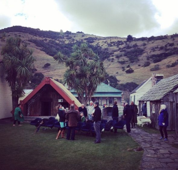 Marae at Okains Bay, Banks Peninsula