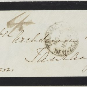 Philatelic 'cover' [envelope], 6 November 1865, Maketu, by Emily Kirby. Purchased 2001. Te Papa (PH000889)