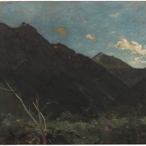 Mount Rolleston, circa 1893, Christchurch, by Petrus van der Velden. Gift of the New Zealand Academy of Fine Arts, 1936. Te Papa (1936-0012-116)