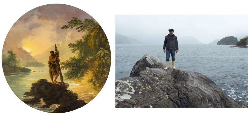Comparison between a painting of a location by William Hodges, compared to a photograph today