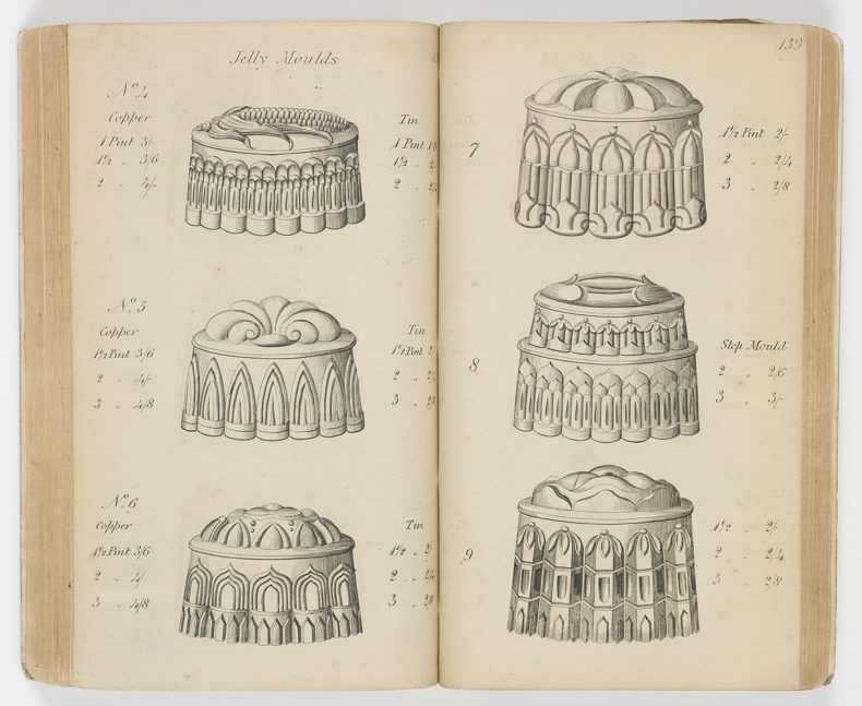 Jelly moulds from catalogue