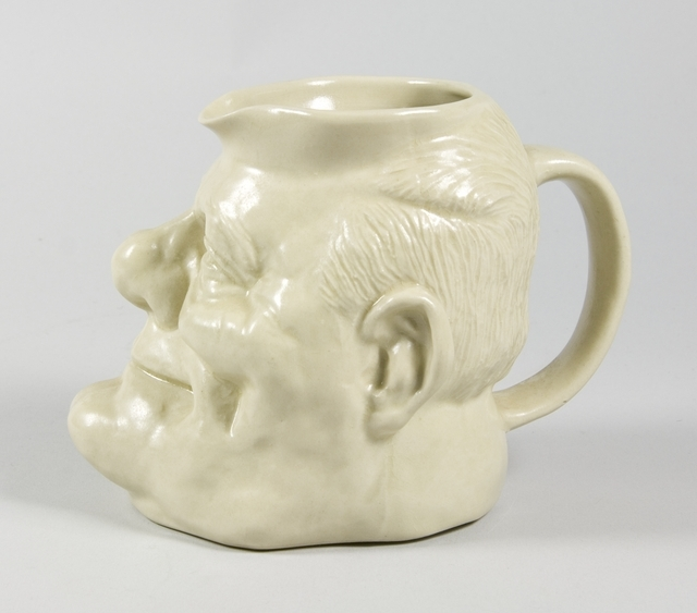 Toby jug (Robert Muldoon), circa 1980, New Zealand, by Robert Wallace. Purchased 2012. Te Papa (GH023163)