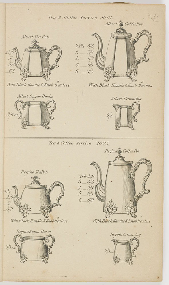 Pots from catalogue