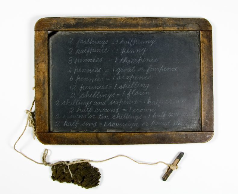 Slate, 1800s, by National School Slate Company. Gift of H. Wollerman, 1965. CC BY-NC-ND licence. Te Papa (GH002410)